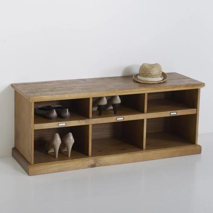 meuble banc d entree en pin lindley
