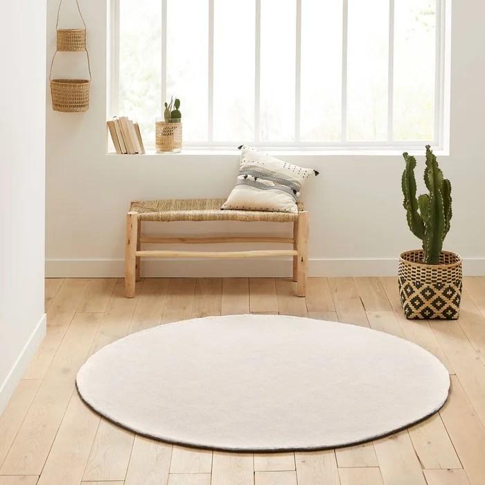 tapis rond coton tufte renzo grand modele