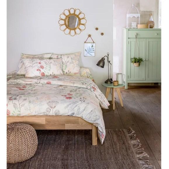 Imagen de Cama de roble macizo con somier Zulda La Redoute Interieurs