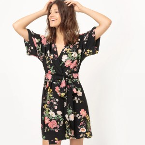 Imagen de Vestido corto, estilo kimono MADEMOISELLE R