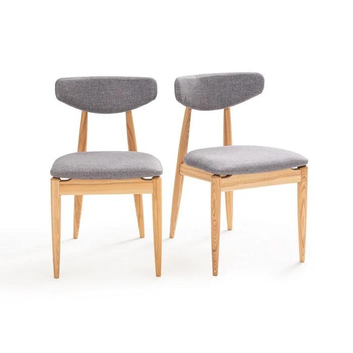 lot de 2 chaises vintage frene nochy