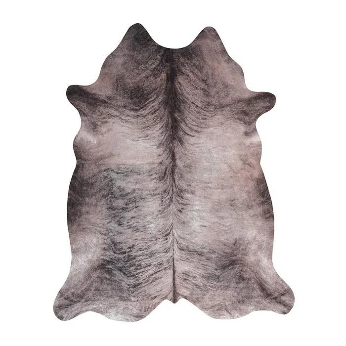 tapis imitation peau de vache gris interieur et exterieur super 4