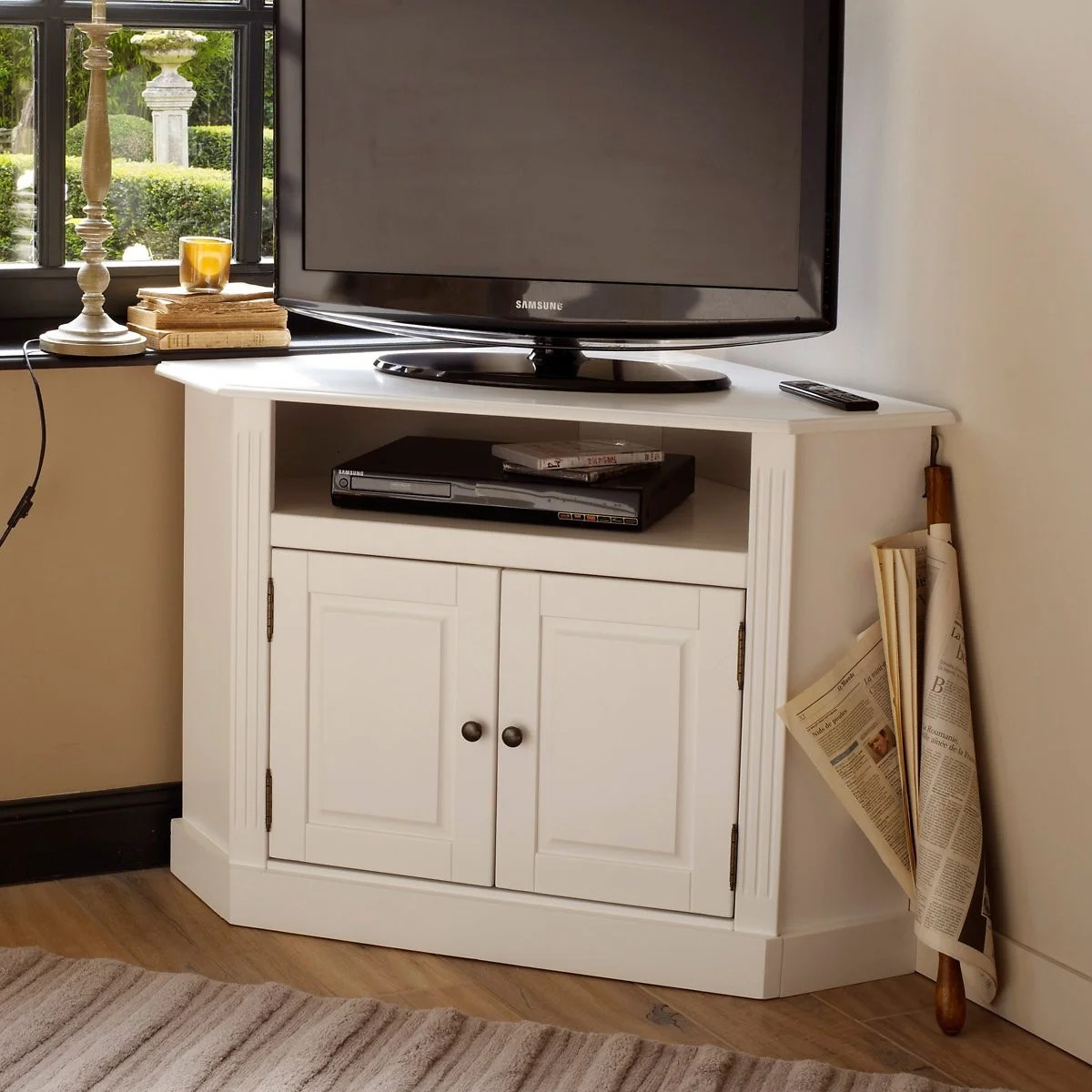 meuble tv d angle pin massif authentic style