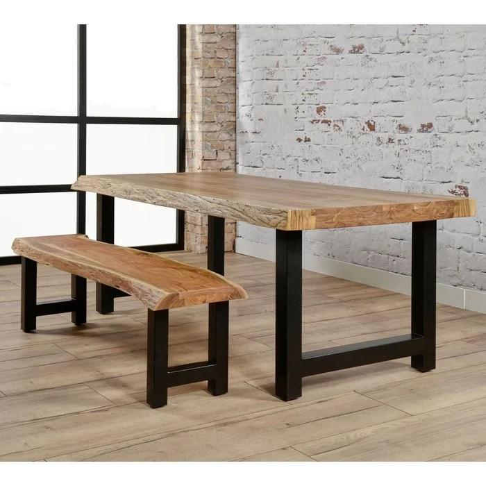 banc bois massif metal 160cm melbourne