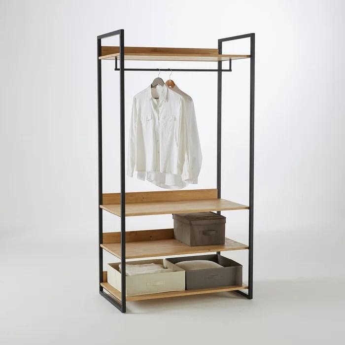 module armoire large 3 etageres 1 penderie hiba