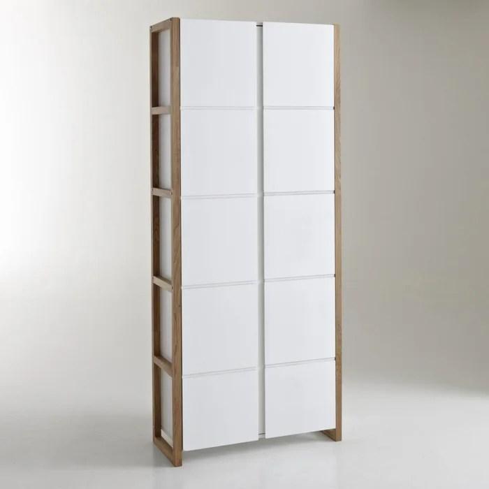 armoire bibliotheque de rangement compo blanc la redoute interieurs la redoute