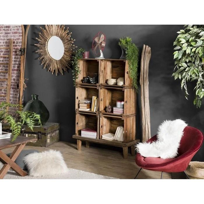 meuble de rangement bureau bois d acajou jodhpur