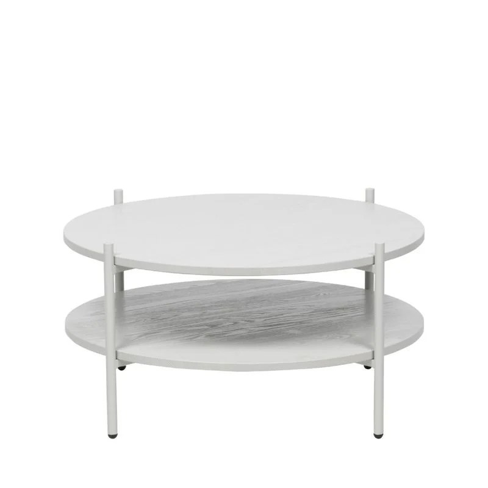 table basse ronde en bois et metal tender