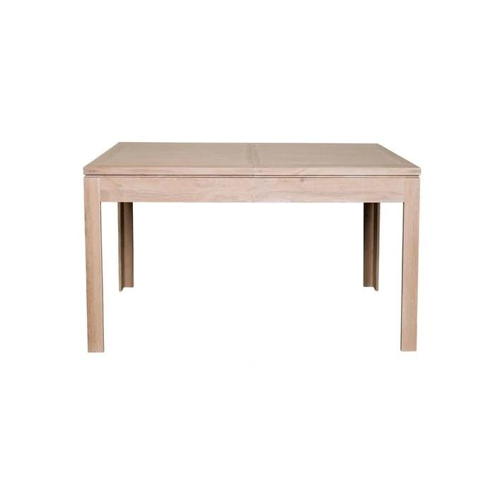 table carree extensible en chene blanchi boston l140 200