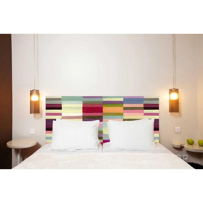 tete de lit en tissu berlingot fixation murale