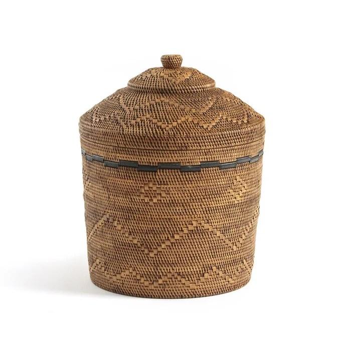 panier o40 x h50 cm bambou et rotin tresse brazil