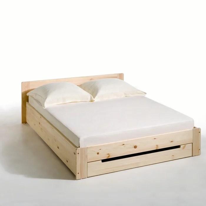 lit pin massif avec sommier et tiroir crawley