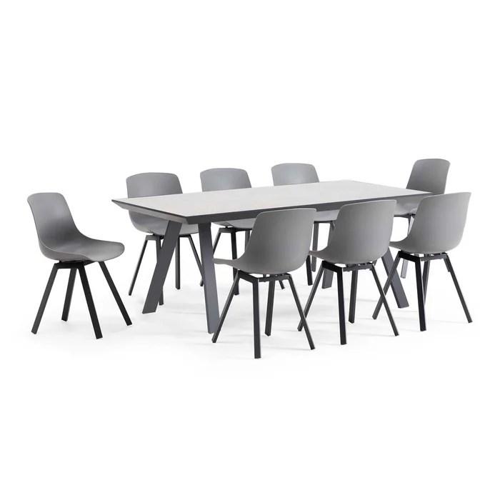 salon de jardin scandinave 1 table