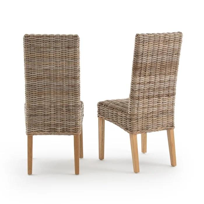 lot de 2 chaises kubu a dossier haut inqaluit