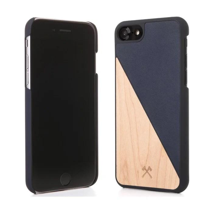 coque iphone 7 8 ecosplit bois bleu