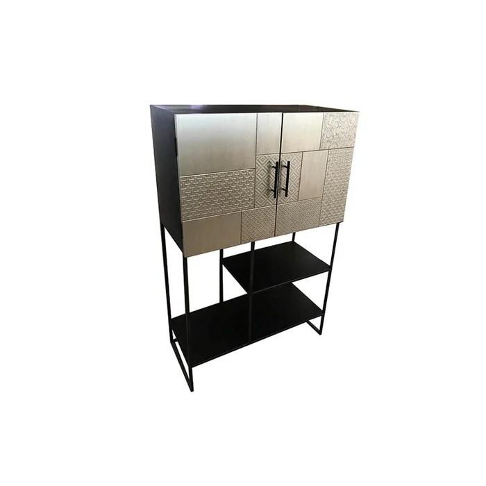 meuble tv design argent lite