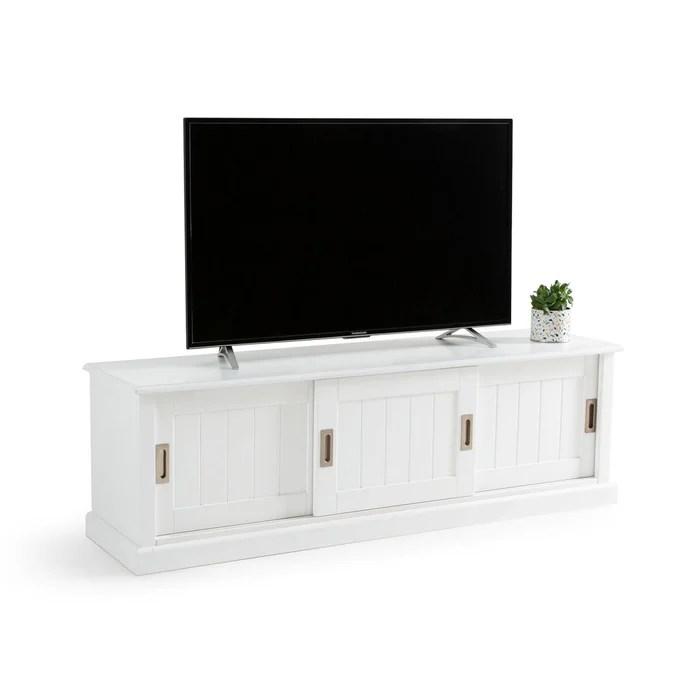 meuble tv 3 portes en pin massif inqaluit