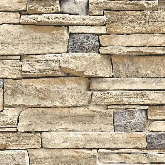 papier peint lutece mur de pierres beiges