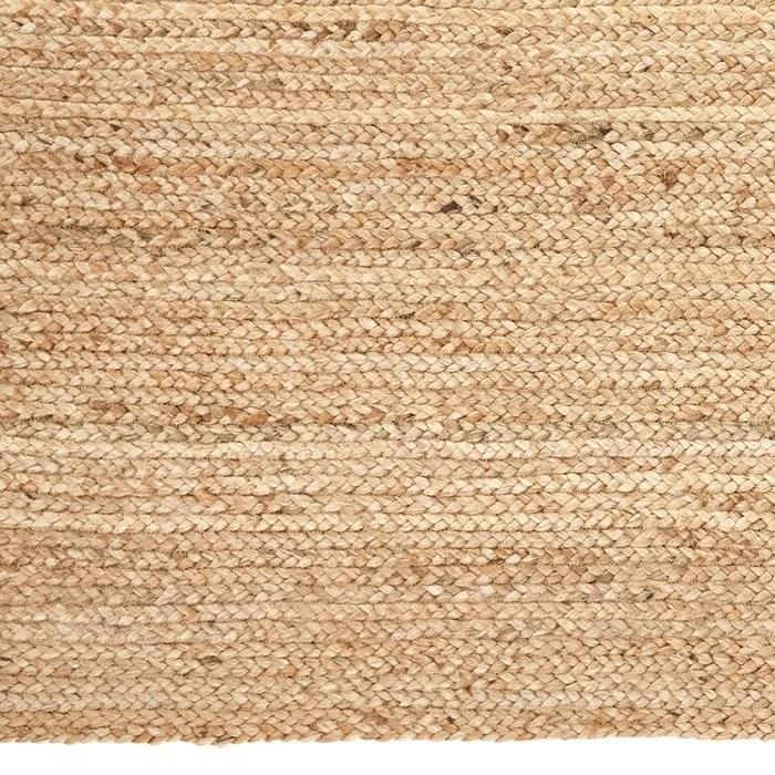 tapis carre en jute hempy naturel am pm