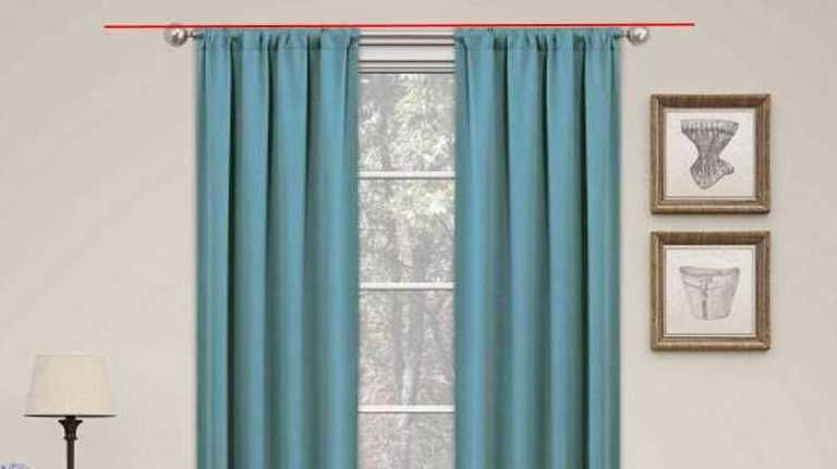 how to hang curtain rods and curtains