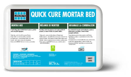 quick cure mortar bed