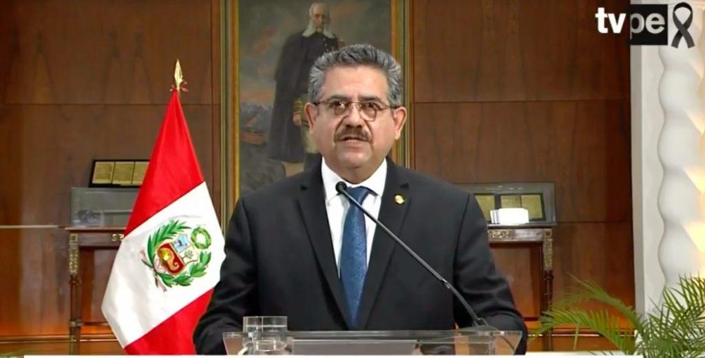 Renuncia Manuel Merino a la presidencia de Perú tras protestas