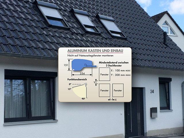 dachfensterrollladen atix solar fur