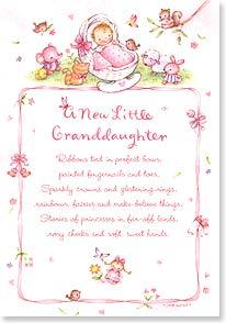 New Grandchild Congratulations Card New Little