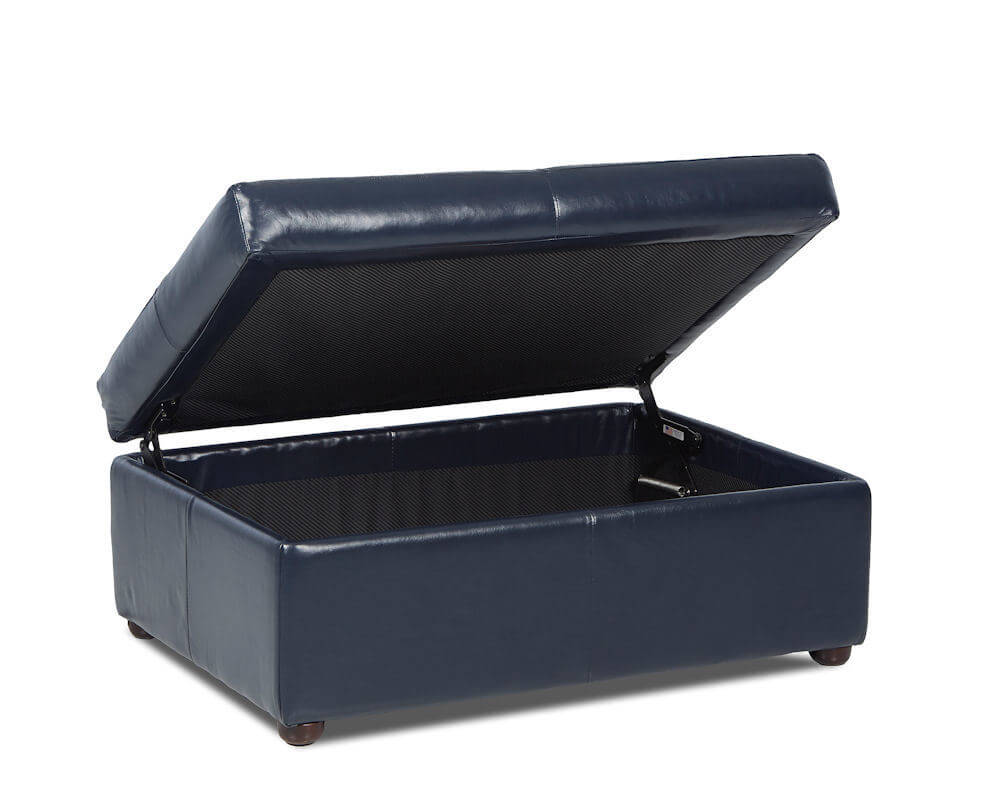 american made leather storage ottoman
