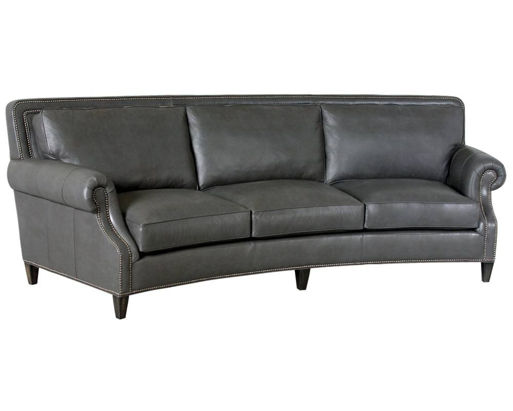 classic leather paxton curved sofa 8653