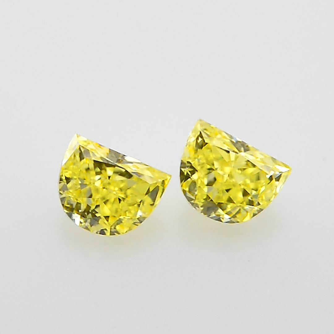 0 50 Carat Fancy Intense Yellow Diamonds Half Moon Shape