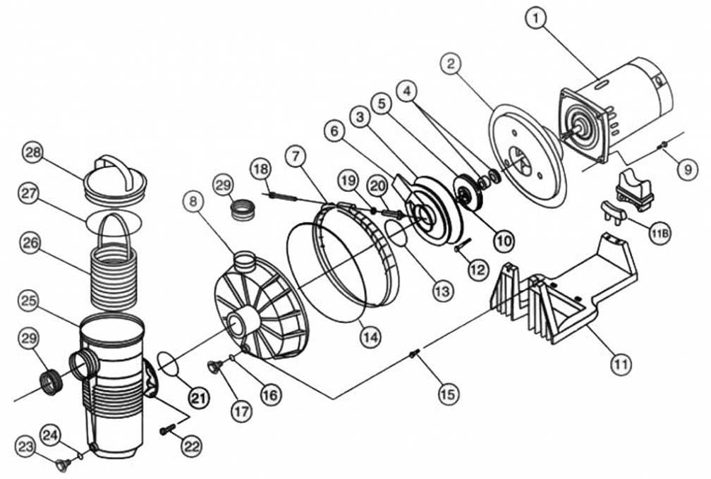 We carry a huge selection of pool pump replacement parts with easy to use parts diagrams to find exactly the component you're looking for. Pentair Challenger High Pressure Pump Parts