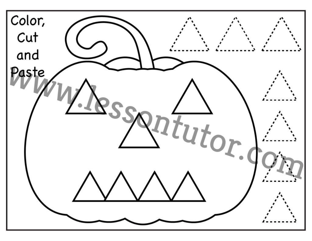 Color Cut And Paste Worksheet Preschool