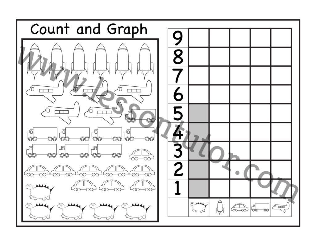 Count And Graph Worksheets Kindergarten