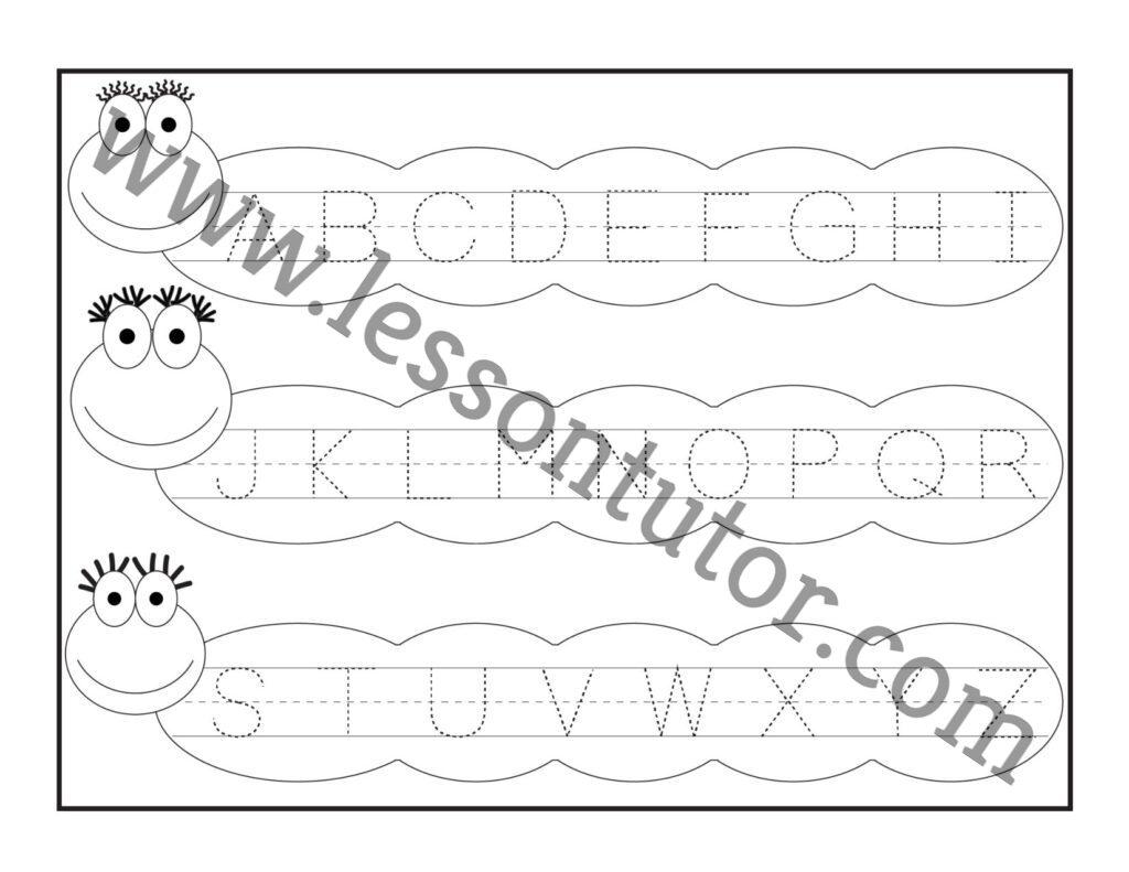 Letter Tracing Worksheet Capital Letters Worksheet