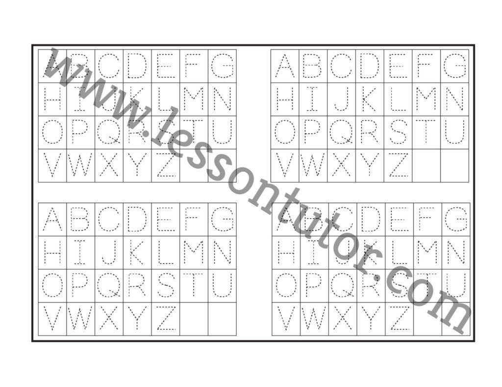 Letter Tracing Worksheet Kindergarten