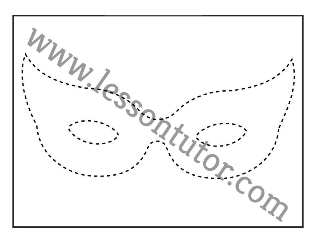 Mask Tracing 1 Worksheet Preschool