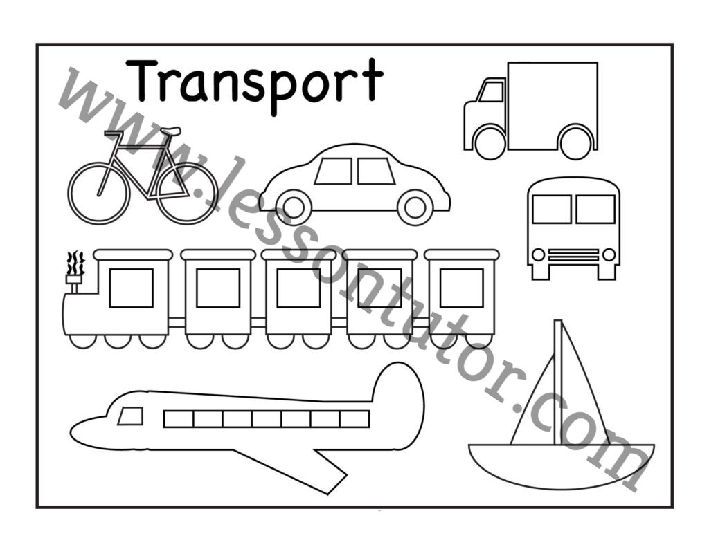 Means Of Transportation Worksheet Kindergarten 2