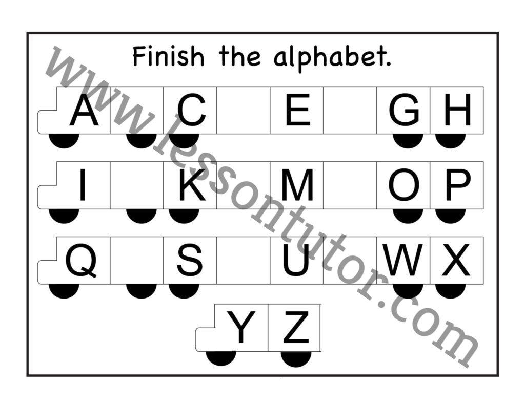 Missing Uppercase Letters Worksheets Kindergarten