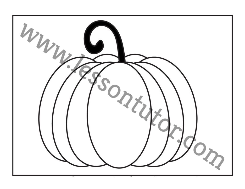 Pumpkin Coloring Worksheet Kindergarten