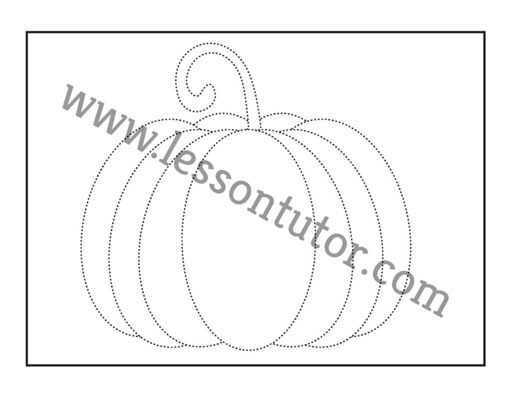 Pumpkin Tracing Worksheet Kindergarten 2