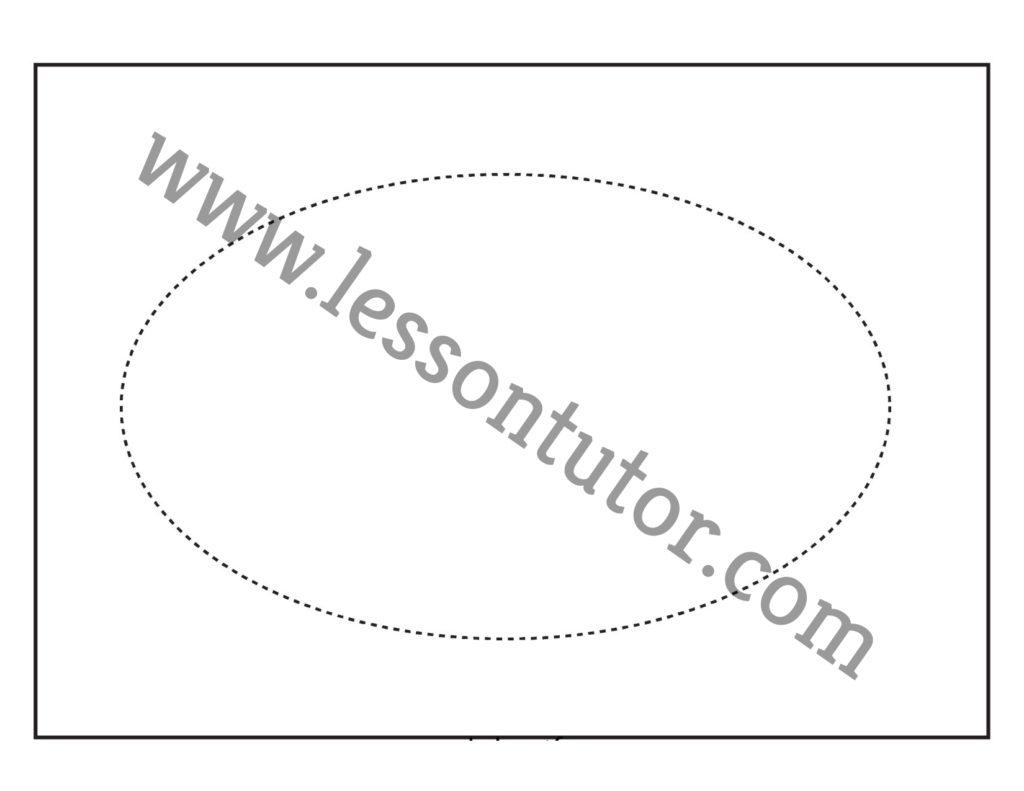 Shape Tracing Oval Worksheet Preschool