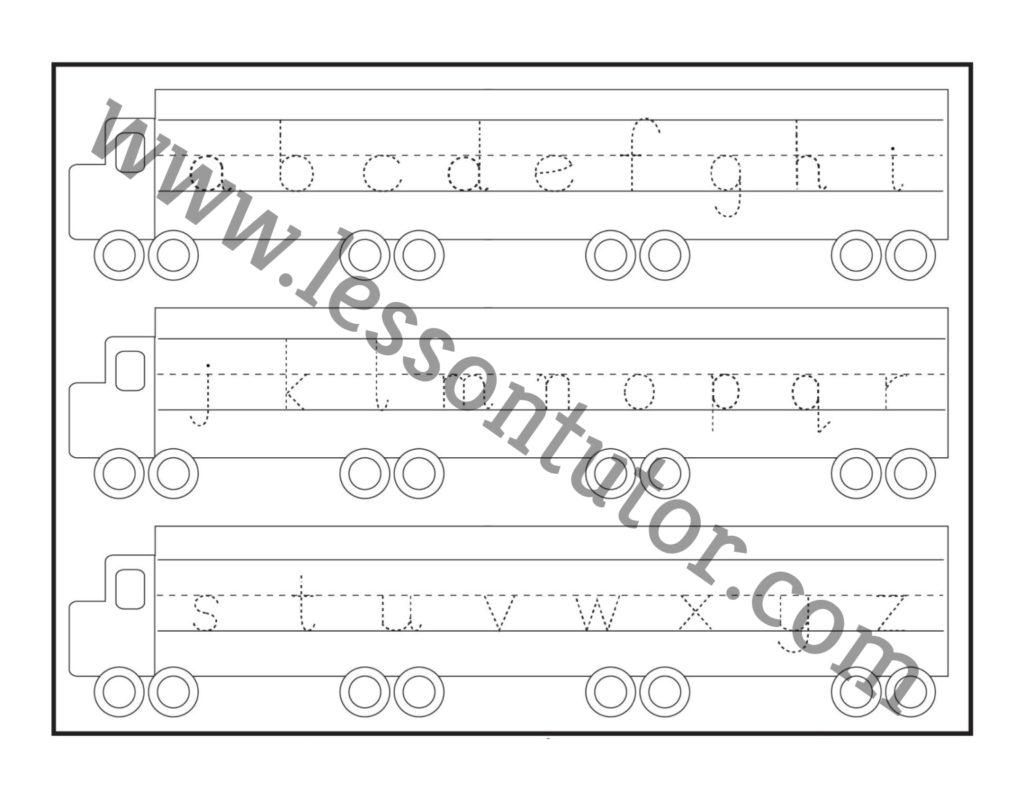 Small Letter Tracing Lowercase Worksheet Kindergarten