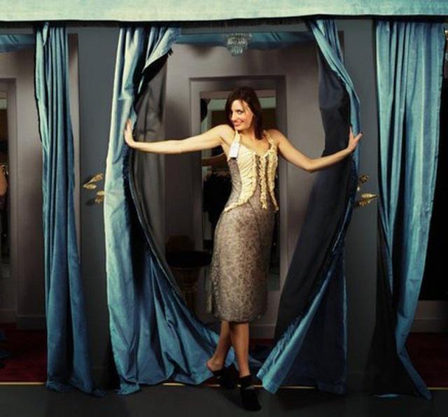 Woman in fancy dress