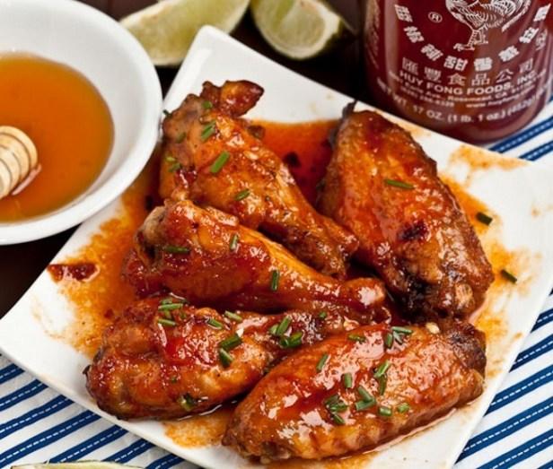Honey-Sriracha-Chicken-Wings