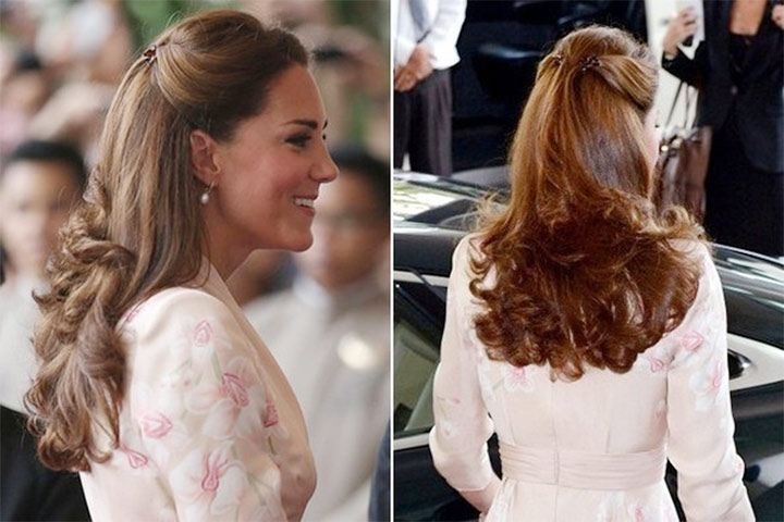 Gaya rambut Kate Middleton: Braids and Knots.