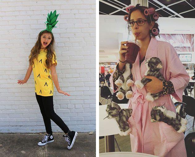 Halloween kostume: ananas og kvinde