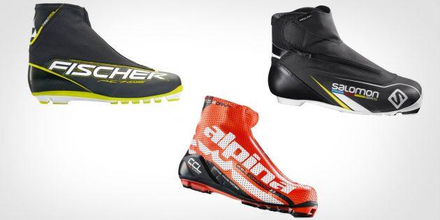 Как выбрать лыжи и снаряжение: классические ботинки