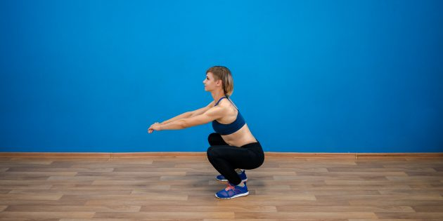 Training program at home: squats