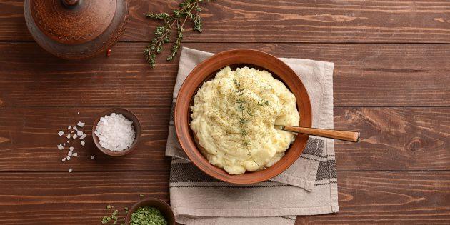 으깬 감자와 셀러리 퓌레 - 제이미 올리버의 조리법